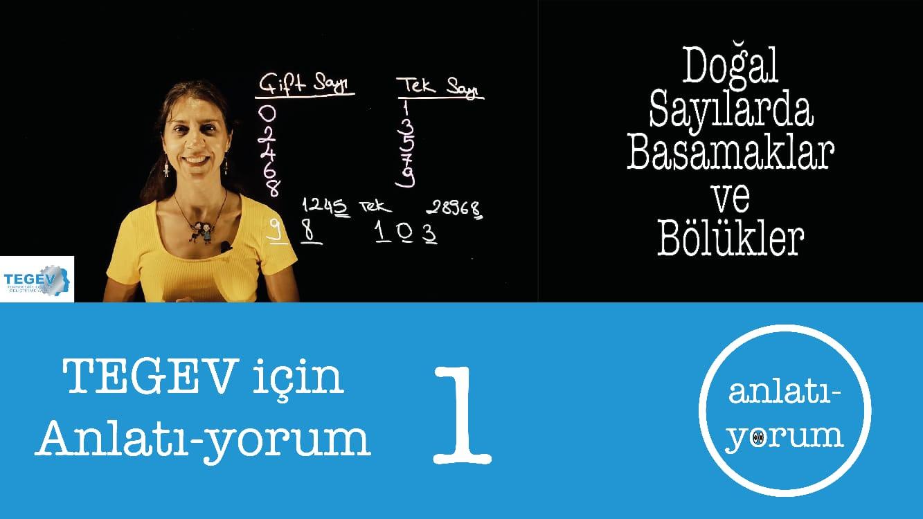 Temel Matematik Eğitimlerimiz başladı: TEGEV için Anlatı-yorum